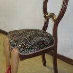 Designad brun stol