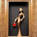 Konst Lady in gold