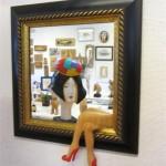 Spegel med ben (Medium)